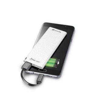 Външна батерия/power bank, Cellular Line FREEPOWER SLIM 3000 UNIVERSALE, 3000mAh, бяла, microUSB Type B, USB A image