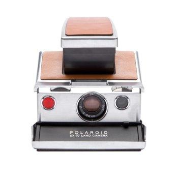 Фотоапарат Polaroid SX-70, автоматични бленда и скорост на затвора, ръчен фокус, сребрист image