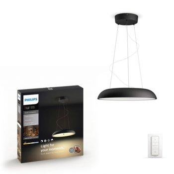 Смарт лампа Philips Amaze Hue 40233/30/P7, за таван, WiFi, 3000 lm, 2200K - 6500K бяла атмосфера, включен ключ за димиране, черна image