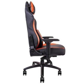 Геймърски стол TteSports X Comfort, Air Black Red, изкуствена кожа, черен/червен image