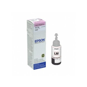МАСТИЛО EPSON L800/L810/L850/L1800 Light Magenta ink bottle 70ml - №C13T67364A - Заб.: 1800p image