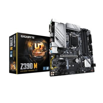 Дънна платка Gigabyte Z390 M, Z390, LGA1151, DDR4, PCI-Е (HDMI&DisplayPort&DVI-D), (CF), 6x SATA 6Gb/s, 2x M.2, USB Type-C, Micro ATX image
