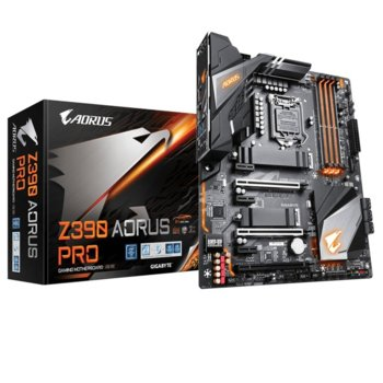 Дънна платка Gigabyte Z390 Aorus Pro, Z390, 1151, DDR4, PCI-E(HDMI)(CF & SLI), 6x SATA 6Gb/s, 2x M.2 slot, 1x USB Type-C, RGB Fusion 2.0, ATX image