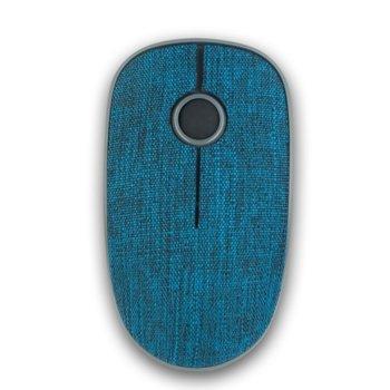 Мишка NGS Evo Denim, оптична (1200 dpi), безжична, USB, текстилно покритие, синя image
