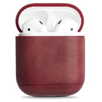 Защитен калъф Krusell Sunne за Apple Airpods, естествена кожа, червен image