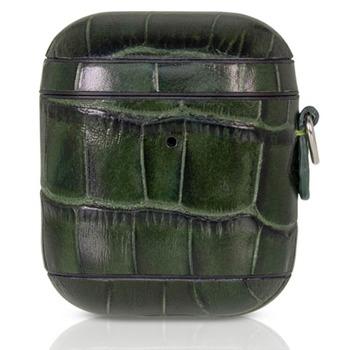Защитен калъф Torrii Bamboo Leather Case за Apple Airpods / Apple Airpods 2, естествена кожа, зелен image