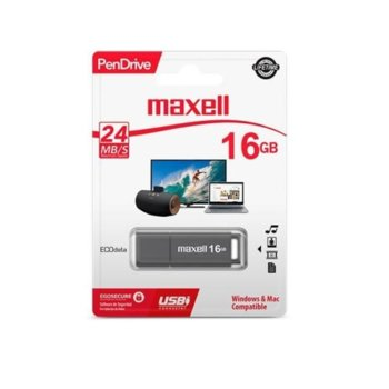 Памет 16GB USB Flash Drive, MAXELL PenDrive, USB 2.0, сива image