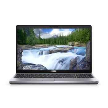 "Лаптоп Dell Latitude 5510 (N012L551015EMEA), четириядрен Comet Lake Intel Core i7-10610U 1.8/4.9 GHz, 15.6"" (39.62 cm) Full HD Touchscreeen Anti-Glare Display, (HDMI), 16GB DDR4, 512GB SSD, 1x Thunderbolt 3, Windows 10 Pro image"