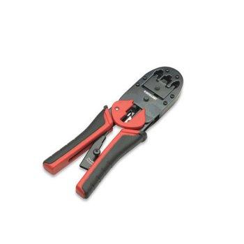 Клещи за кримпване Intellinet 211048, за RJ45/8P8C, RJ12/6P6C, RJ11/6P4C, 6P2C, 4P4C, 4P2C, за плоски и кръгли кабели image