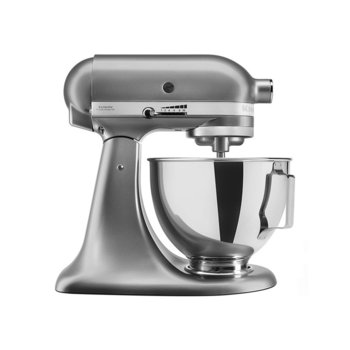 Кухненски робот KitchenAid 5KSM95PSECU, 300W, 4,3 литра, 10 скорости, сив image