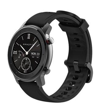 """Смарт часовник Xiaomi Amazfit GTR 42mm - Black, 1.2"""" (3.04 cm) AMOLED Gorilla Glass 3, до 12 дни живот на батерията, IP68, 6-осен сензор за ускорение, черен  image"""