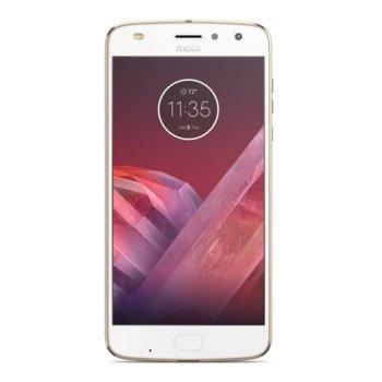 "Смартфон Motorola Moto Z2 Play DS (златист), поддържа 2 sim карти, 5.5"" (13.97 cm) Full HD Super AMOLED дисплей, осемядрен Snapdragon 626 2.2 GHz, 4GB RAM, 64GB Flash памет(+microSD слот), 5.0 & 2.0, Mpix camera, Android, 145g image"