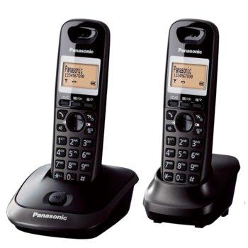 """Безжичен телефон Panasonic KX-TG 2512, 1.4""""(3.56 cm) монохромен дисплей, черен image"""