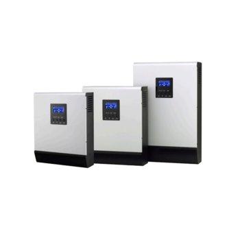 Инвертор Lever HOMIV-4K, хибриден синусоиден, 4000VA/3200W, от 90–280 Vac към 230 Vac ± 5%, LCD дисплей image