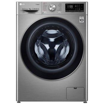 Пералня със сушилня LG F4DV709H2T, клас A, 9 кг. капацитет на пералня/ 6 кг. на сушилня, 1400 оборота, 14 програми, 15 бр. допълнителни опции, свободностояща, 60 cm ширина, сива image