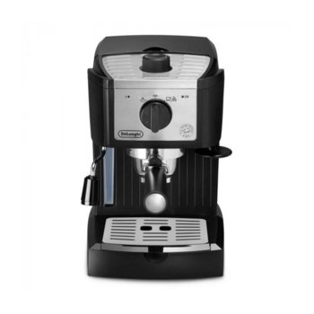 Кафемашина DeLonghi EC157, 1100W, 15 bar, 1 л. резервоар за вода, капучино система, черна image