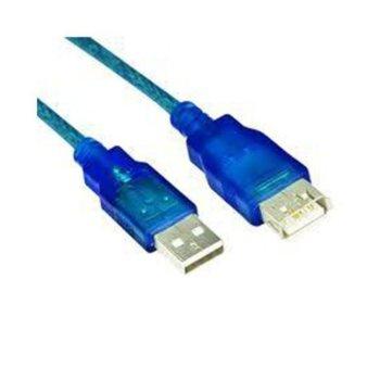 Кабел VCom CU202-TL-5m, USB A(м) към USB A(ж), 5m, светлосин image