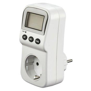 Уред за измерване Hama 137289, измерване на напрежение, разхода на ток и консумирана мощност, бял image