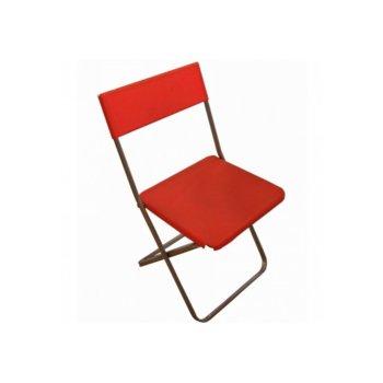 Сгъваем стол Slim, пластмаса, метална праховобоядсана основа, червен image