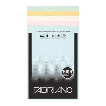 Копирен картон Fabriano, A4, 160 g/m2, 4 цвята, 100 листа image