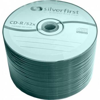 Оптичен носител CD-R 52x, 700MB, SilverFirst, 50 бр. image