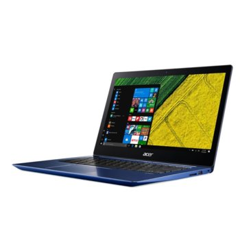 "Лаптоп Acer Swift 3 SF314-52-87FC (NX.GQJEX.007)(син), четириядрен Kaby Lake R Intel Core i7-8550U 1.8/4.0GHz, 14"" (35.56 cm) Full HD IPS Anti-Glare Display(HDMI), 8GB DDR4, 512GB SSD, 2x USB 3.0, Windows 10 Home, 1.6kg image"