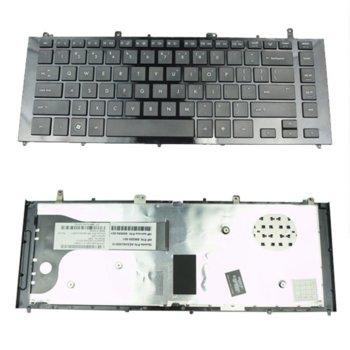 Клавиатура за лаптоп HP, съвместима със серия ProBook 4420S 4421S Черна с гланцова рамка US image