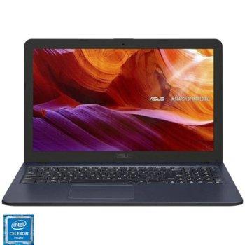 "Лаптоп Asus D543MA-DM785 (90NB0IR7-M15510), двуядрен Gemini Lake Intel Celeron N4000 1.1/2.6GHz, 15.6"" (39.62 cm) Full HD TN Display, (HDMI), 4GB DDR4, 256GB SSD, 1x USB 3.0, Free DOS image"