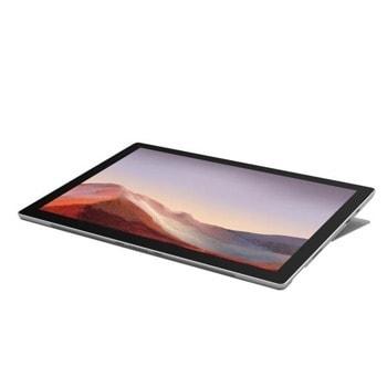 """Лаптоп Microsoft Surface Pro 7 (VAT-00035)(сребрист), 12.3"""" (31.24 cm) PixelSense дисплей, четириядрен Intel Core i7-1065G7 1.3/3.9 GHz, 16GB LPDDR4, 512 GB SSD, 8.0 & 5.0 Mpix камера, Windows 10 Home, 790 g image"""