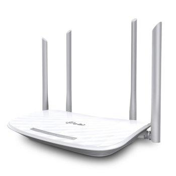 Рутер TP-Link Archer A5, 1200Mbps, 2.4GHz(300Mbps), 5GHz(867Mbps), Wireless AC, 4x LAN 10/100 Mbps, 1x WAN 10/100, 4x външни антени image