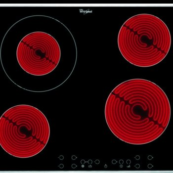 Вграден керамичен плот Whirlpool AKT 8600/IX, 4 нагревателни зони, електронно управление, индикатор за остатъчна топлина, възможност за заключване, черен image