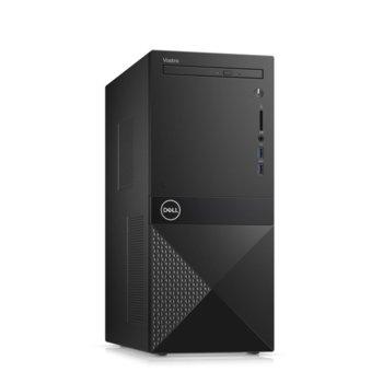 Настолен компютър Dell Vostro 3671 MT (N109VD3671EMEA01_R2005_22NM_UBU), шестядрен Coffee Lake Intel Core i5-9400 2.9/4.1 GHz, 4GB DDR4, 1TB HDD, 2x USB 3.1 Gen 1, клавиатура и мишка, Linux image