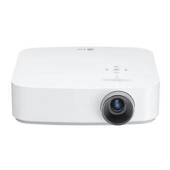 Проектор LG PF50KG, RGB LED, Full HD (1920x1080), 100000:1, 600 lm, Bluetooth, 2x HDMI, 1x USB Type-A, 1x USB Type-C, 1x RJ55, безжичен, батерия 12000 mAh image