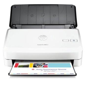 Скенер HP ScanJet Pro 2000 S1, 600dpi, A4, ADF, USB image