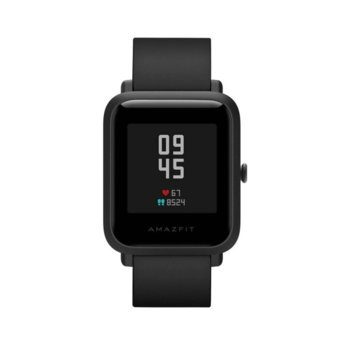 "Смарт часовник Xiaomi AMAZFIT Bip S Black, 1.28"" (3.25 cm) LCD Touchscreen дисплей, до 40 дни живот на батерията, IP68, черен  image"