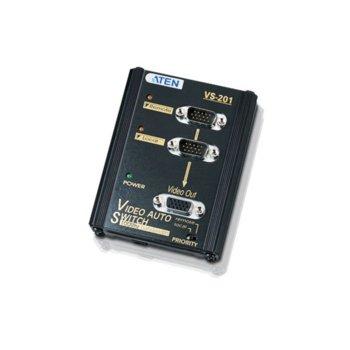 KVM суич ATEN VS201, от 2x HDB-15(VGA)(м) към 1x HDB-15(VGA)(ж), 1 устройство image