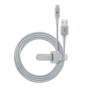 Кабел Cellular Line Infinity, от USB-a(м) към USB-C(м), 1.2m., сив image