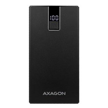 Външна батерия/power bank/ AXAGON PWB-L10QD, 10000mAh, черна, LCD дисплей image