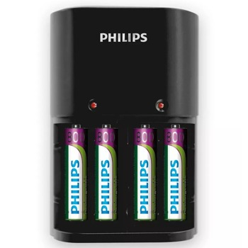 Зарядно устройствo Philips SCB1450NB/12, за батерии 4 x AAA, 800 mA, 220/240V, с включени батерии 4 x AAA 800mA image