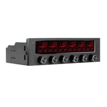 "Контролер за вентилатори Thermaltake Commander F6 RGB, 5.25"" (13.33 cm), 4pin, RGB backlit image"