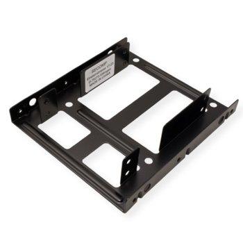 """Преходник (mounting bracket) Roline 16.01.3008, от 2x 2.5"""" към 3.5"""" за SSD/HDD, метален, черен image"""