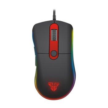 Мишка FanTech Knight X6 Macro, оптична (4800 dpi), USB, черна, 6 програмируеми бутона, гейминг, подсветка image