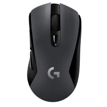 Мишка Logitech G603 Lightspeed, оптична (12 000 dpi), безжична, Bluetooth, 6 бутона, геймърска, черна image