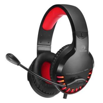 Слушалки Marvo HG8932, гейминг, микрофон, 50мм говорители, червена LED подсветка, черни image