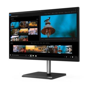 """All in one компютър Lenovo V30a (11FT000TBL), четириядрен Comet Lake Intel Core i5-10210U 1.6/4.2 GHz, 23.8"""" (60.45 cm) Full HD дисплей, 8GB DDR4, 256GB SSD, 1x USB 3.1, Windows 10 Pro image"""