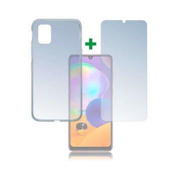 Протектор от закалено стъкло /Tempered Glass/, 4smarts, за Samsung Galaxy A31, силиконов (TPU) кейс image