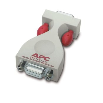 Surge protector APC ProtectNet standalone for Serial RS232 lines (9 pin male to female), DCE image