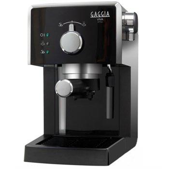 Кафемашина Gaggia Viva Style RI8433/11, 1025W, 15 bar, Филтър под налягане Crema, черна image