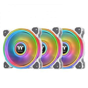 Вентилатор 140mm Thermaltake Riing Quad 14 TT Premium Edition (CL-F101-PL14SW-A), USB 2.0, 1500rpm, RGB подсветка, 3бр image