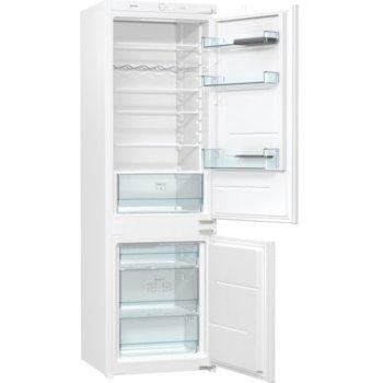 Хладилник с фризер Gorenje RKI4182E1, клас E, 263 л. общ обем, за вграждане, FrostLess, CrispZone, EcoMode режим на пестене на енергия, бял image